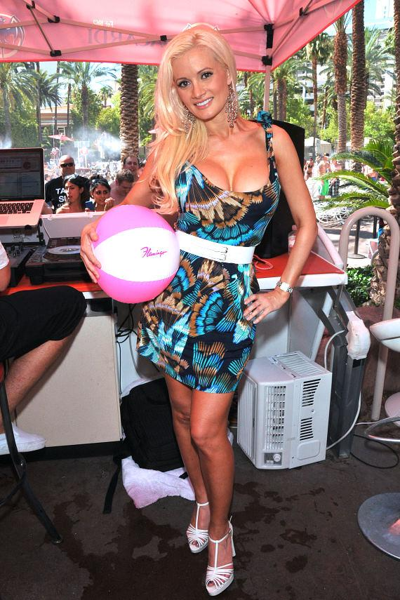 Holly Madison poolside at the Flamingo GO Pool