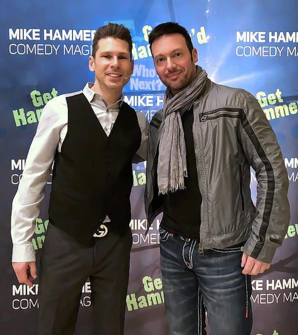 """Illusionist David Goldrake Attends """"The Mike Hammer Comedy & Magic Show"""" at The Four Queens Hotel & Casino in Las Vegas"""