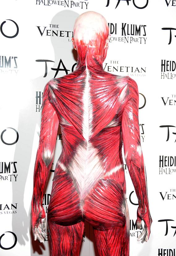 """Heidi Klum Becomes the """"Visible Woman"""" for Halloween"""