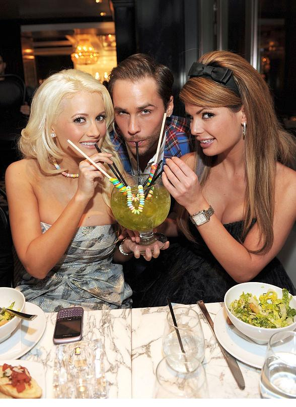 Holly Madison, Josh Strickland and Laura Croft