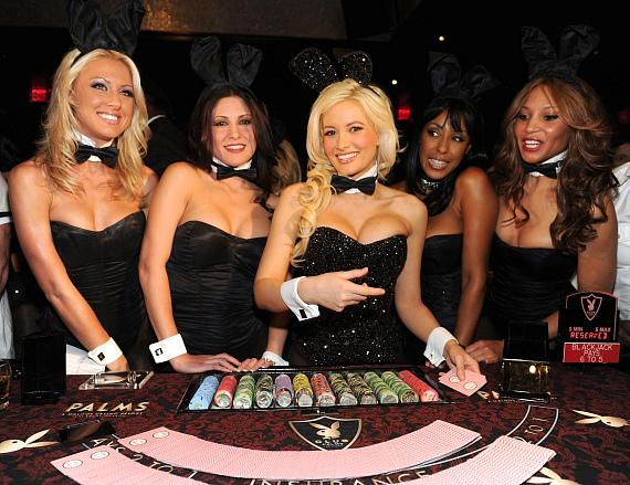 Holly Madison with Bunnies