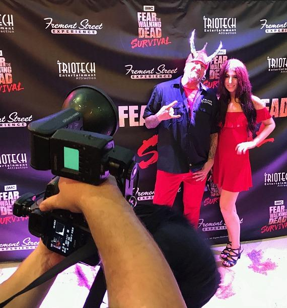 """Horny Mike of """"Counting Cars"""" at """"Fear The Walking Dead: Survival"""" attraction on Fremont Street Experience Las Vegas"""