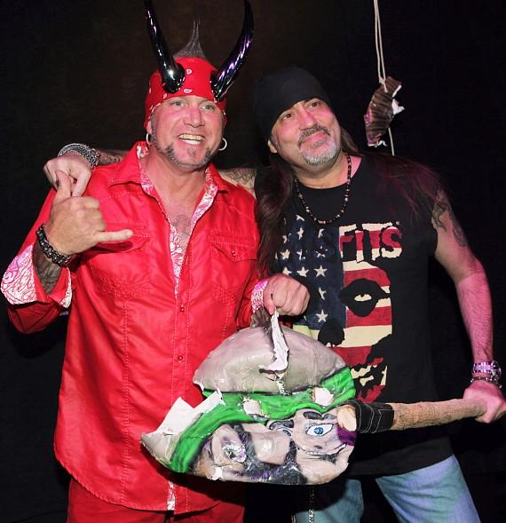"Horny Mike with Count's Kustoms owner, Danny ""The Count"" Koker, at Count's Vamp'd Rock Bar & Grill"