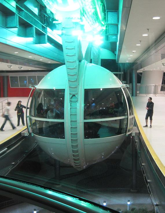 Passengers board The High Roller at The LINQ in Las Vegas