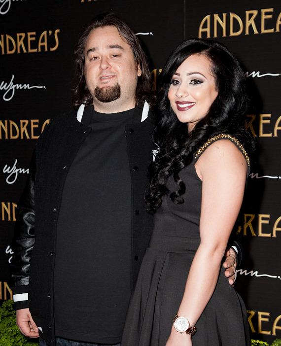 """Austin """"Chumlee"""" Russell of Pawn Stars and his guest,"""