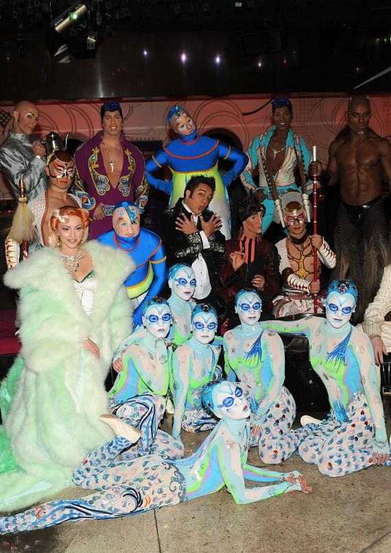 Cast members from all seven Cirque du Soleil productions