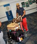 UK Boy Band JLS arrive at McCarran International Airport in Las Vegas
