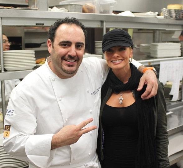 Jaime Pressly (r) and Chef Barry S. Dakake