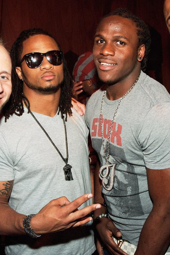 Jamaal Charles and Earl Thomas at Marquee