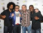 Jamie Yager, Diego Sanchez, Joe Rogan and Melvin Guillard on Red Carpet at Studio 54