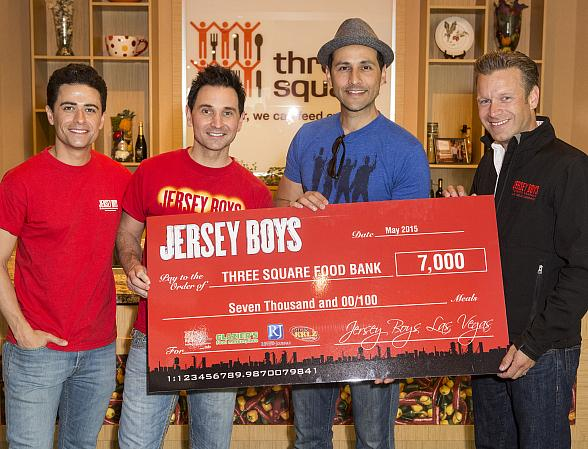 Jersey Boys Las Vegas Donates 7,000 Meals to Three Square Food Bank