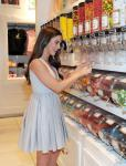 Jessica Lowndes shops for sweets at the Sugar Factory retail store at Paris Las Vegas