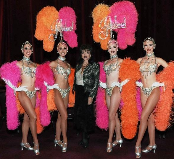 Joan Collins Attends Donn Arden's Jubilee! at Bally's Las Vegas