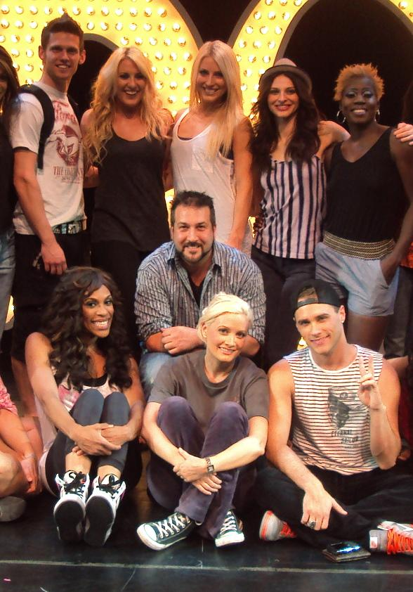 Joey Fatone with Holly Madison, Josh Strickland and cast of PEEPSHOW