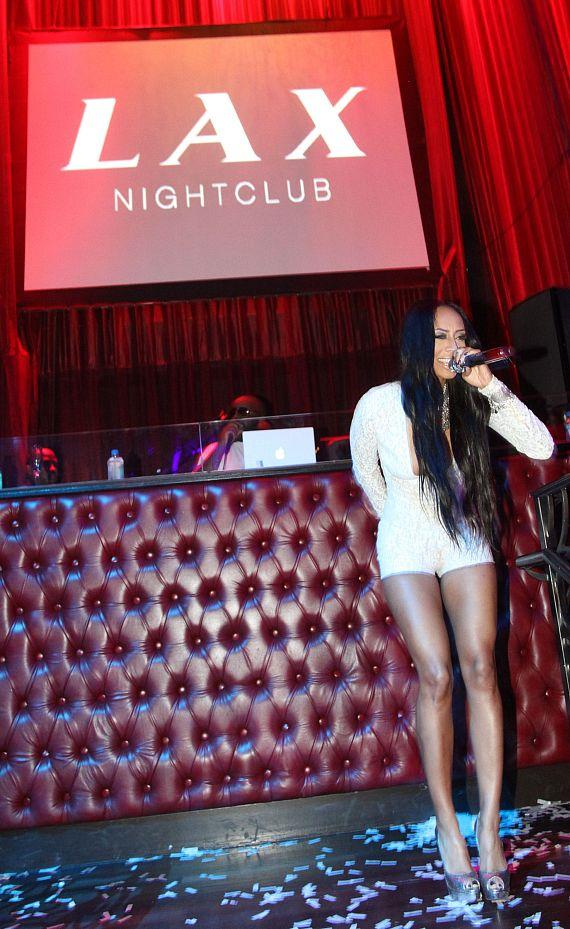 Keri Hilson Rings performs at LAX Nightclub