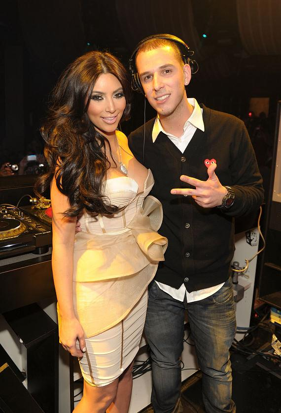 Kim Kardashian and Eric DLux at Marquee