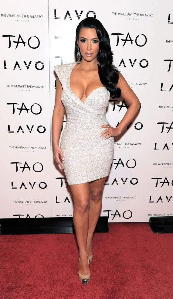 Kim Kardashian on the red carpet at TAO Las Vegas