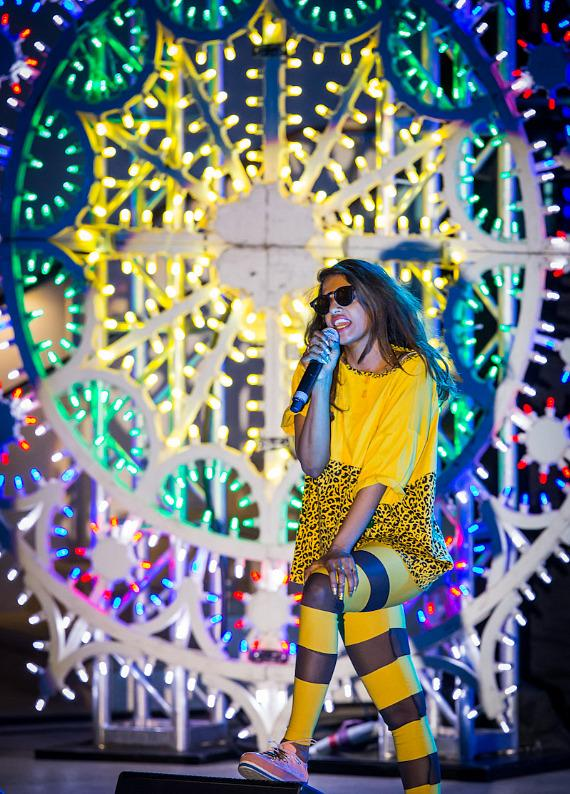 M.I.A. performs at Boulevard Pool at The Cosmopolitan of Las Vegas