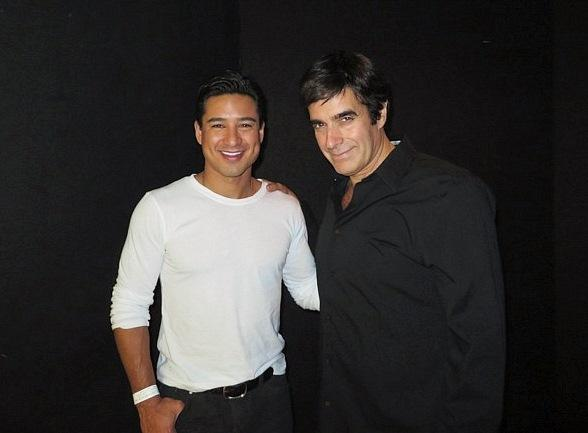 Mario Lopez with David Copperfield