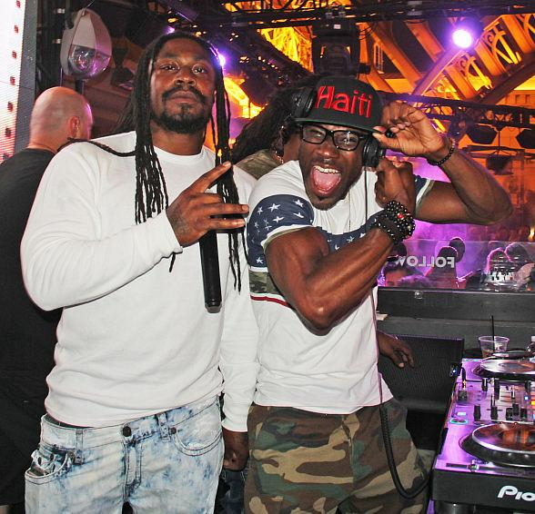 """Football Star Marshawn """"Beast Mode"""" Lynch and Heavyweight Champion Daniel Cormier Host Parties at Chateau Nightclub & Rooftop in Las Vegas"""