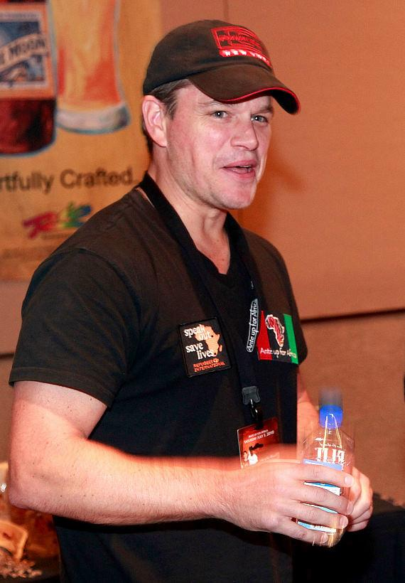 Matt Damon in McFadden's celebrity green room