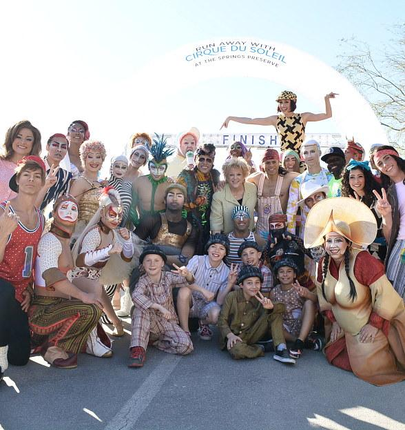 """""""Run Away with Cirque du Soleil"""" at 16th Annual 5K Run and 1-Mile Fun Walk at the Springs Preserve, March 11, 2017"""