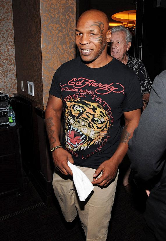 Mike Tyson attends Fight Nights at The Cosmopolitan press conference