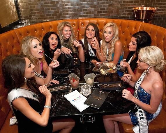 Miss USA 2011 contestants at Chocolate Lounge