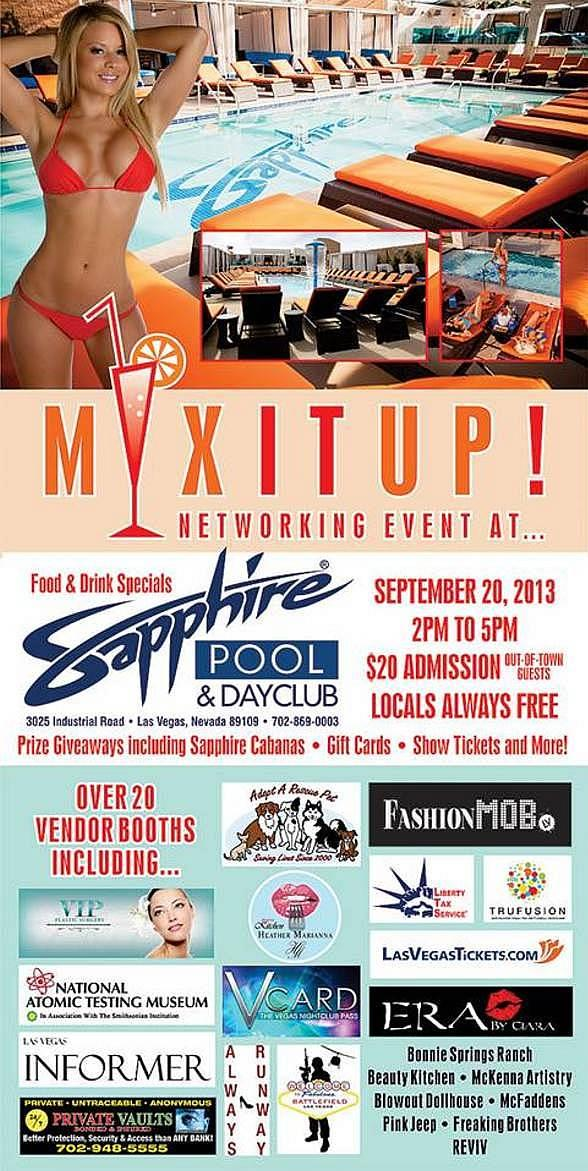 Sapphire Pool & Dayclub to Host Mix It Up Networking Event Friday, Sept. 20