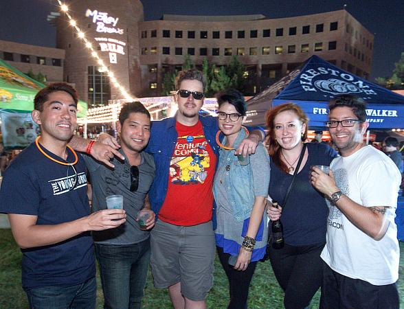 Festival goers enjoying the intimate atmosphere and the finest local and regional craft beers during the 2013 Downtown Brew Festival