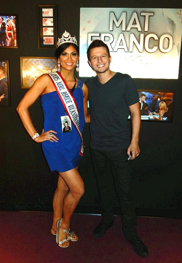 """Mrs. Rhode Island America attends """"Mat Franco - Magic Reinvented Nightly"""" at The LINQ Hotel & Casino"""