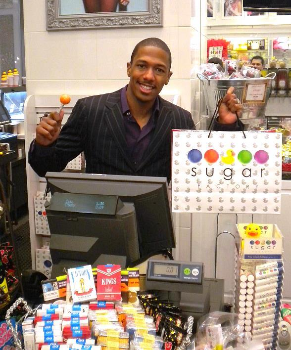 Nick Cannon at Sugar Factory inside Miracle Mile Shops at Planet Hollywood Resort & Casino in Las Vegas