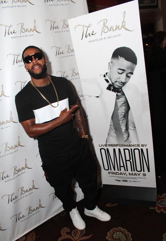 R&B Heartthrob Omarion Performs at The Bank at Bellagio in Las Vegas