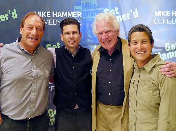 Paul Stone, Mike Hammer, Norm Nielsen, Norm's wife Lupe Nielsen