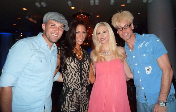 Chris Cauley, Sandra Cauley, Chloe Louise Crawford and Murray SawChuck at Zowie Bowie Late Night at Bally's
