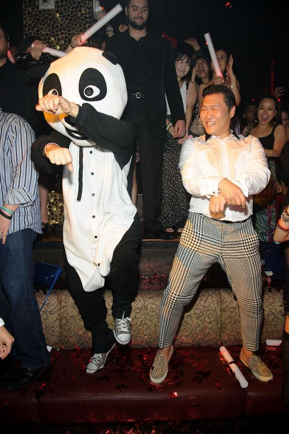 Panda and PSY Gangnam Style at TAO
