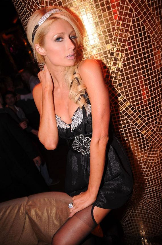Paris Hilton Parties at XS Nightclub