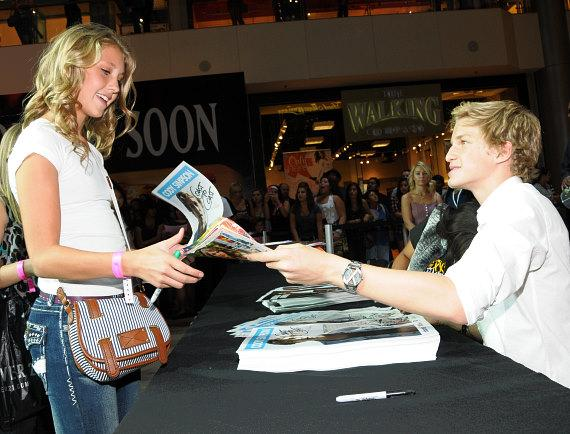 Cody Simpson meet & greet at Pastry Shoes fashion show in Las Vegas