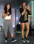 Angela and Vanessa Simmons at Pastry Shoes fashion show in Las Vegas