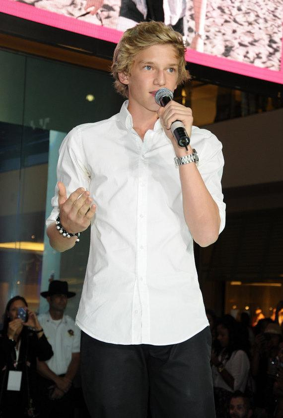 Cody Simpson at Pastry Shoes fashion show in Las Vegas