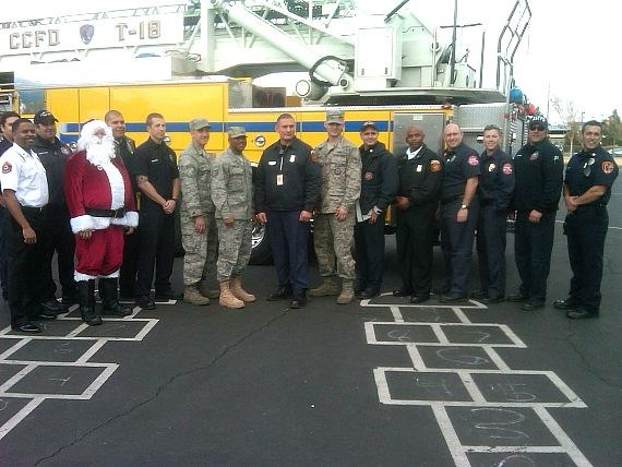 """Photo from last year's """"Fill The Fire Truck Toy Drive"""""""