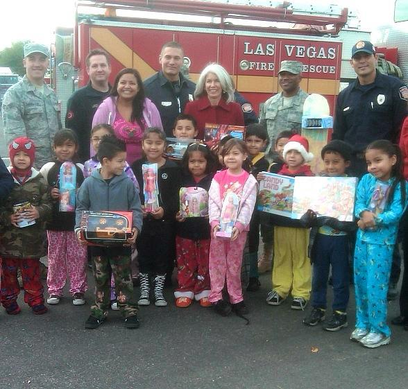 """Firefighters of Southern Nevada Burn Foundation Begin 14th Annual """"Fill The Fire Truck Toy Drive"""" by Collecting Toys and Gift Cards at Select Wal-Mart Locations Each Weekend Dec. 3-18"""