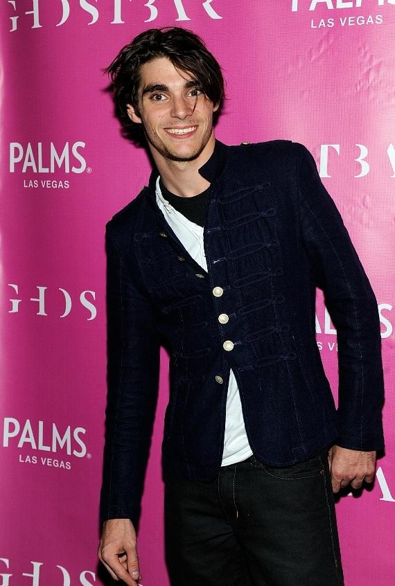 RJ Mitte arrives to Ghostbar at Palms Casino Resort to celebrate his 21st birthday
