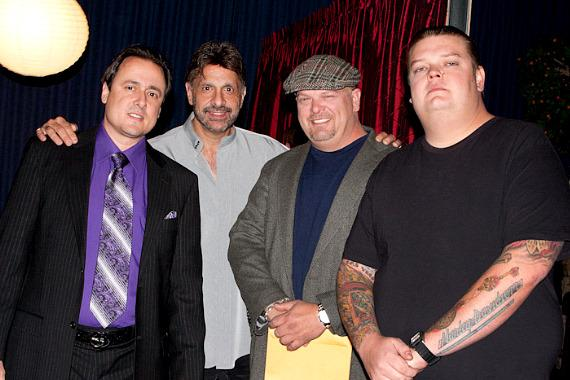 Angelo Giordano, Director Jeffrey Ross, Rick Harrison and Corey Harrison