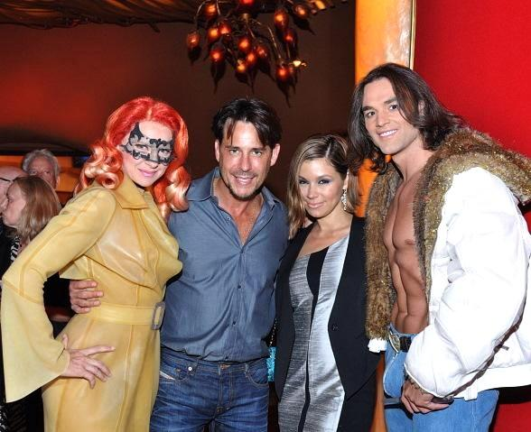 Ricky Paull Goldin of All My Children visits the early show of Zumanity – The Sensual Side of Cirque du Soleil at New York-New York along with his wife