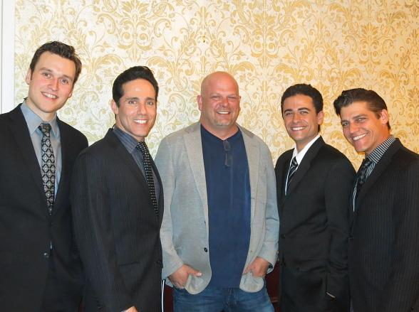 Rob Marnell, Jeff Leibow, Rick Harrison, Graham Fenton and Deven May