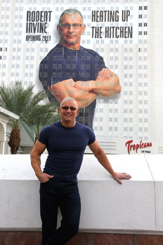 Robert Irvine with Tropicana Building Wrap