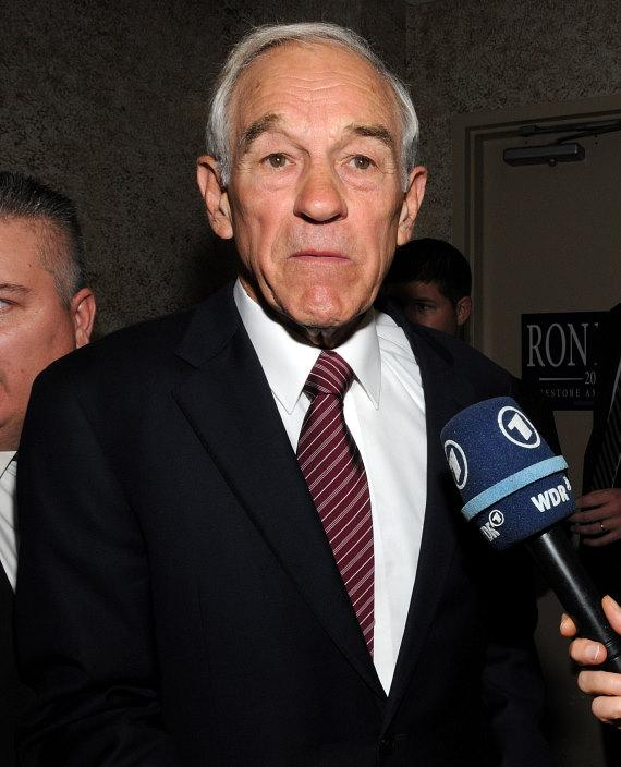 Republican Presidential Candidate Ron Paul Speaks at The Board Room at Thomas & Mack on UNLV Campus