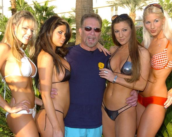 Ronnie the Limo Driver with Rick's Girls