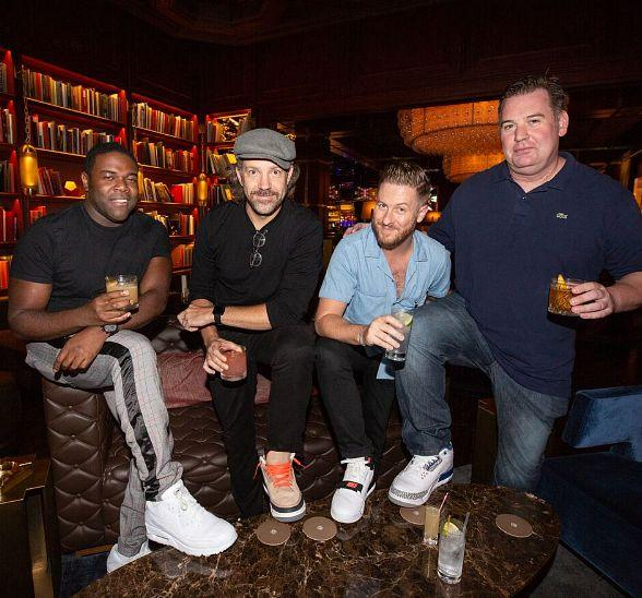 Actor Jason Sudeikis and Friends Spotted inside The Dorsey at The Venetian Las Vegas